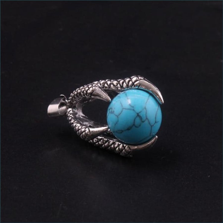 Dragon Claw Orb Pendant FREE SHIPPING TODAY ONLY! - Blue Turquoise