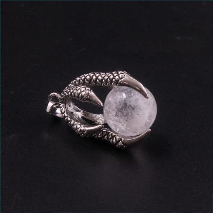 Dragon Claw Orb Pendant FREE SHIPPING TODAY ONLY! - Clear Quartz