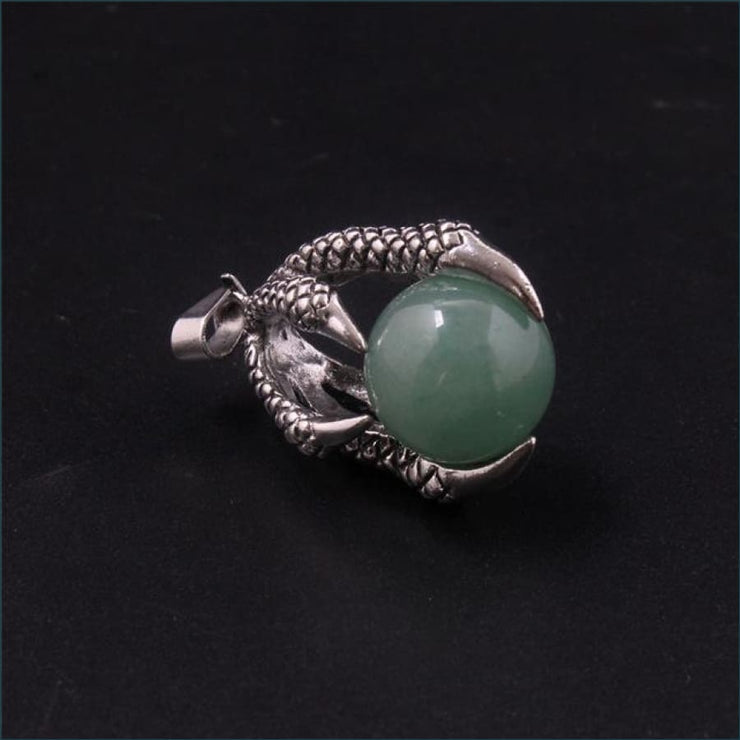 Dragon Claw Orb Pendant FREE SHIPPING TODAY ONLY! - Green Aventurine