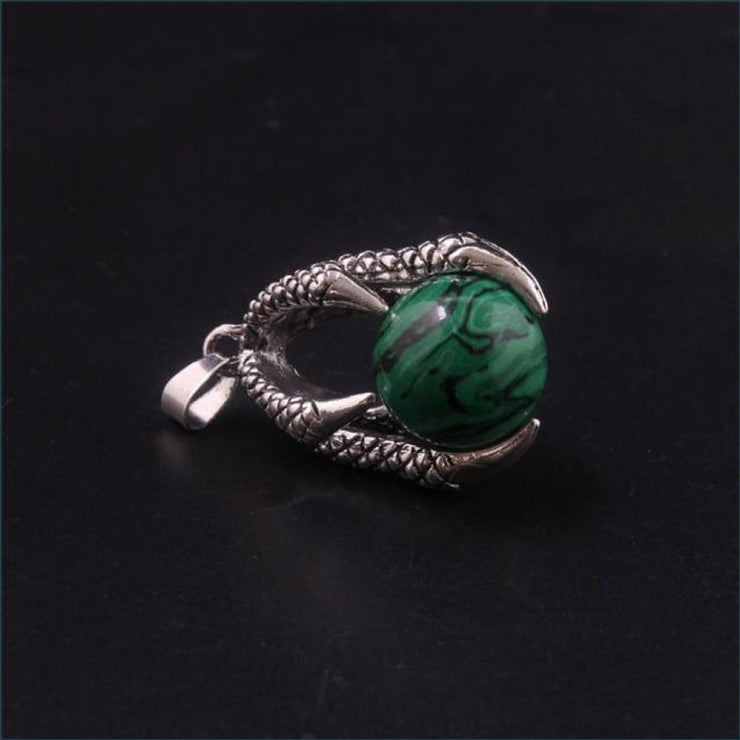 Dragon Claw Orb Pendant FREE SHIPPING TODAY ONLY! - Malachite