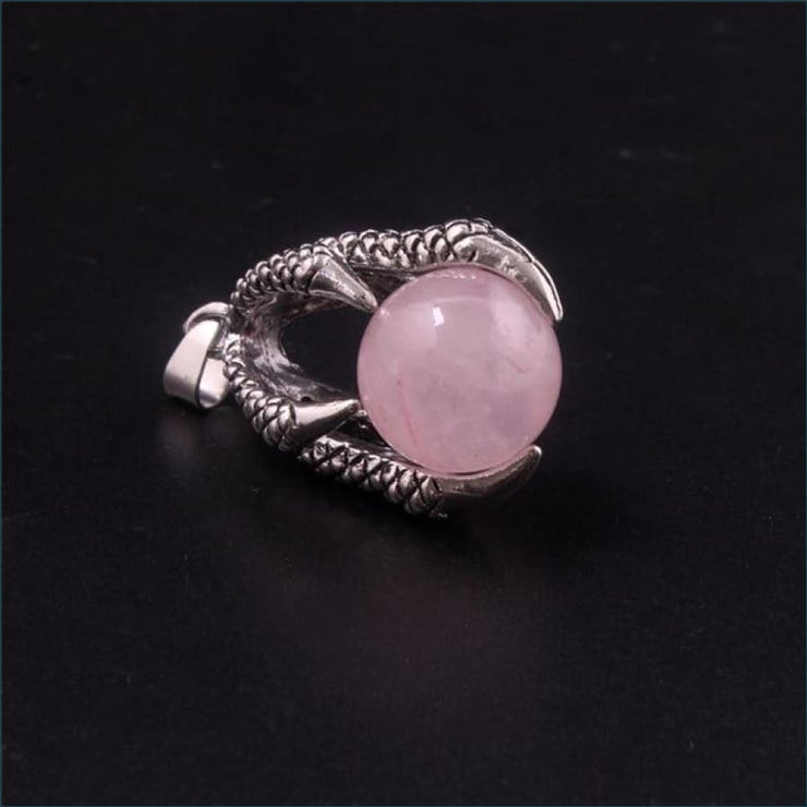 Dragon Claw Orb Pendant FREE SHIPPING TODAY ONLY! - Rose Quartz