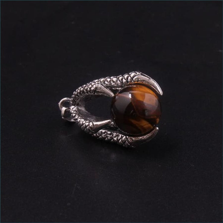 Dragon Claw Orb Pendant FREE SHIPPING TODAY ONLY! - Tiger Eye