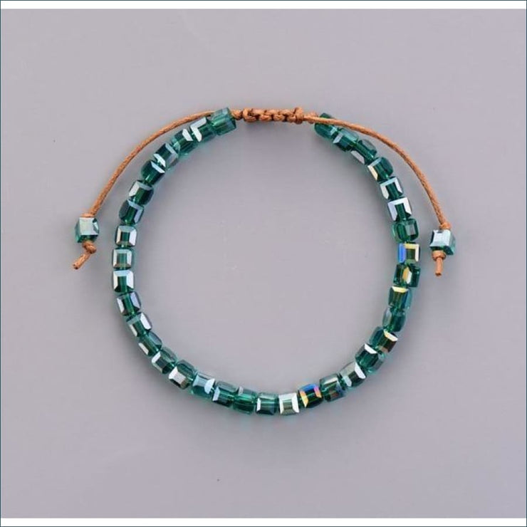Earthvibe Adjustable Mixed Gemstone Friendship Bracelet