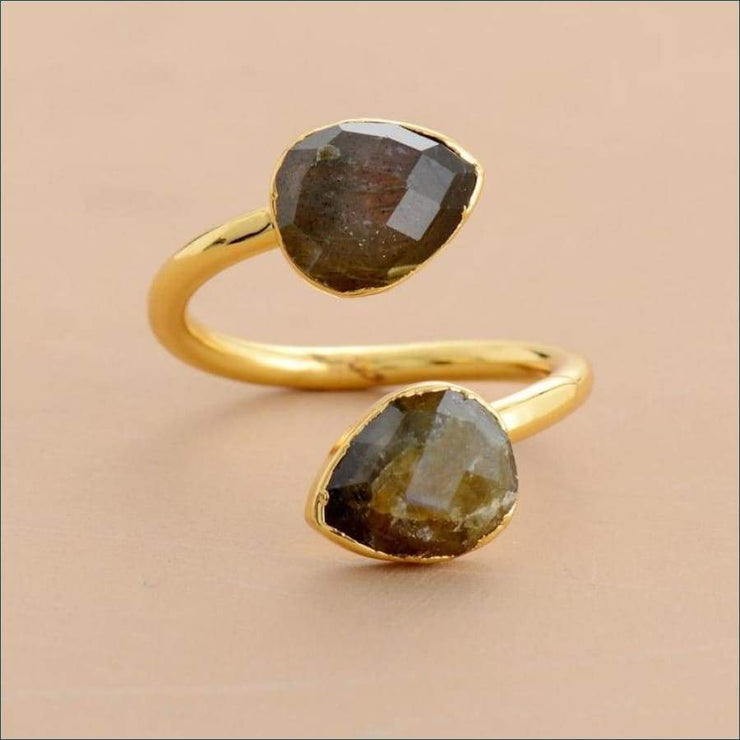 Earthvibe Labradorite Twin Flame Ring