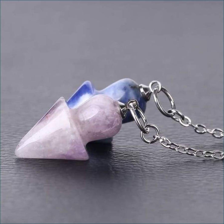 Gemstone Arrow Pendulum