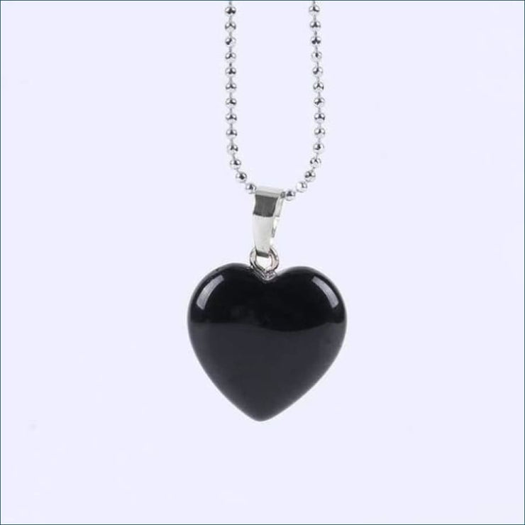 Gemstone Heart Pendant