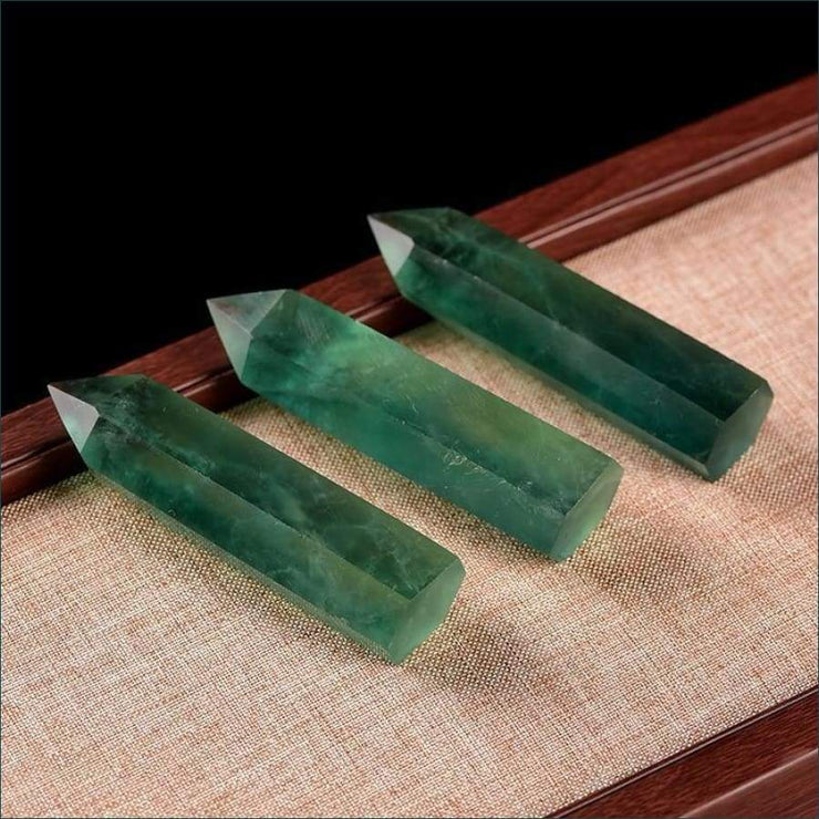 Green Fluorite Wand (3 Sizes Available)