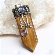 Moonstone & Mixed Gemstone Sword Pendants