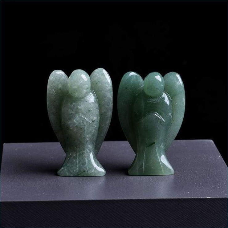 Natural Crystal Angel Calming Stone Free Shipping TODAY ONLY! - Dongling Jade Angel / 40x27x15 mm