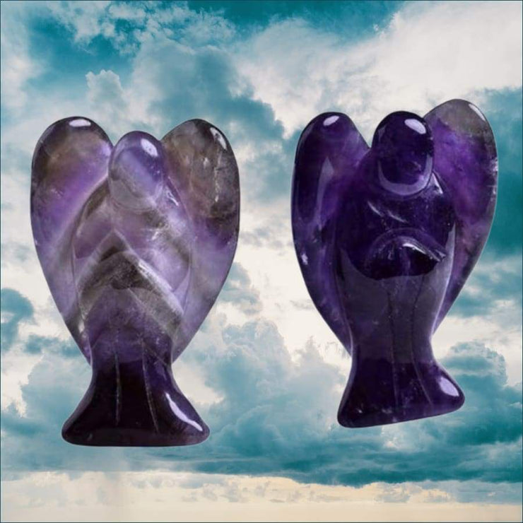 Natural Crystal Angel Calming Stone Free Shipping TODAY ONLY!