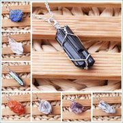 Wire Wrapped Gemstone Pendant (Choose Your Crystal!)