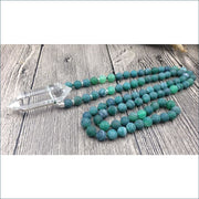 Quartz Teal Dragon Vein Necklace
