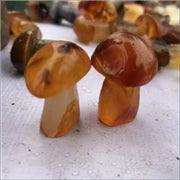 Red Agate Gemstone Mushroom (Magical)