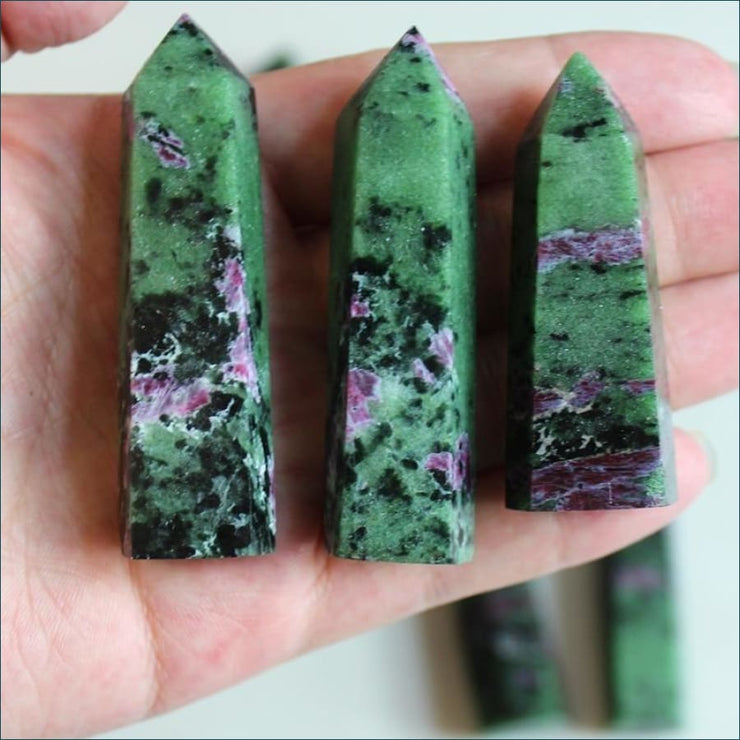Ruby in Zoisite (Anyolite) Wand