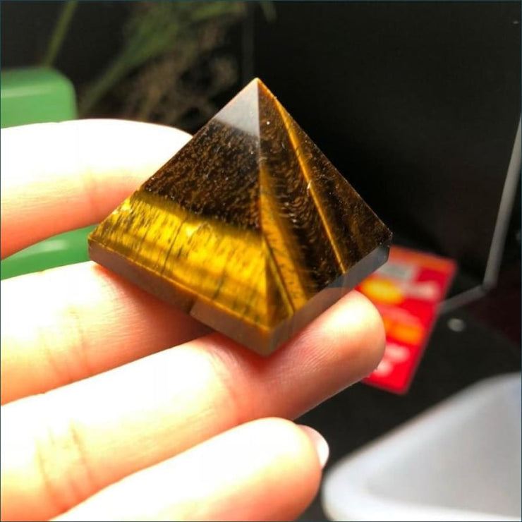 Tigers Eye Pyramid