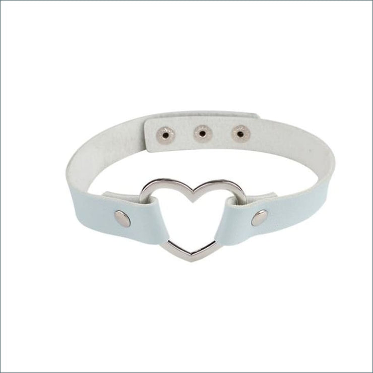 Trendy Vintage Heart Choker FREE SHIPPING TODAY ONLY! - light blue