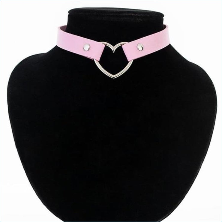 Trendy Vintage Heart Choker FREE SHIPPING TODAY ONLY! - pink