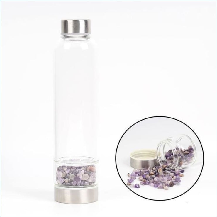Tumbled Gemstone Infused Water Bottle (Customizable!)