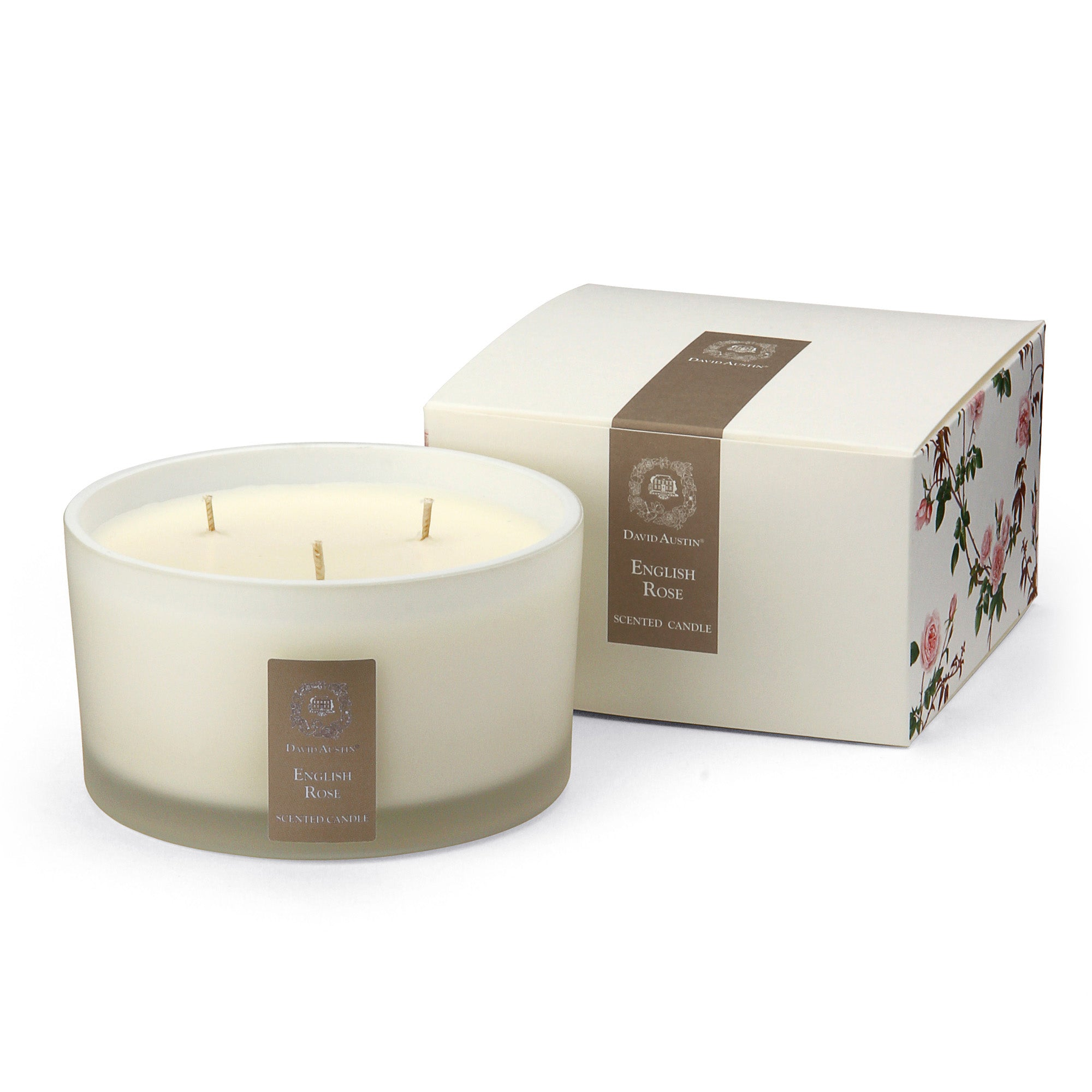 English Rose Triple Wick Scented Candle
