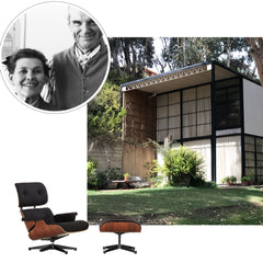 Eames Lounge Chair and House