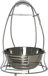 MYA Silver Large Charcoal Basket