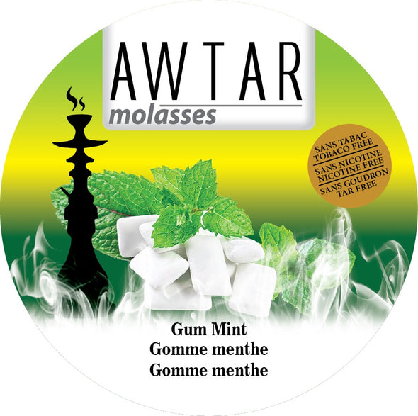 Awtar 250g Herbal Molasses for hookah (Gum Mint)