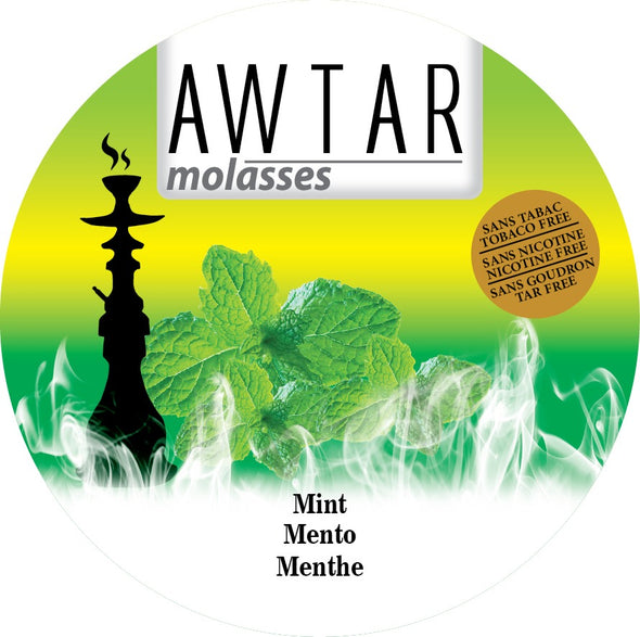 Awtar 250g Herbal Molasses for Hookah (Mint)