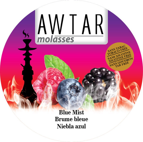 Awtar 250g Herbal Molasses for Hookah (Blue Mist)