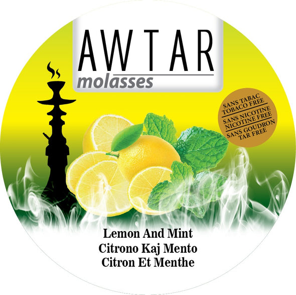 Awtar 250g Herbal Molasses for Hookah (Lemon Mint)