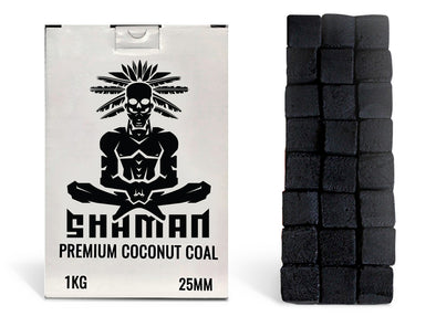 Shaman Premium Coconut Charcoal 25mm Master Case - 20 Packs in a Box