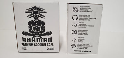 Shaman Premium Coconut Charcoal 26mm Master Case - 20 Packs in a Box