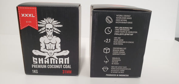 Shaman Premium Coconut Charcoal 31mm - Master Case - 20 Packs in a Box