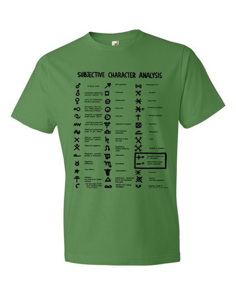 Subjective Character Analysis Code Sheet, Short sleeve T-Shirt
