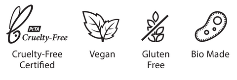 Certified Cruelty-free, Vegan, and Gluten Free Skincare Products - Packaging Logos