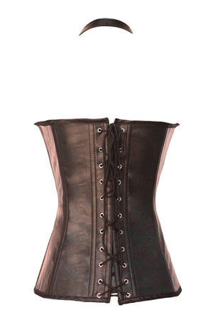 Coffee Buckle-up Steampunk Corset