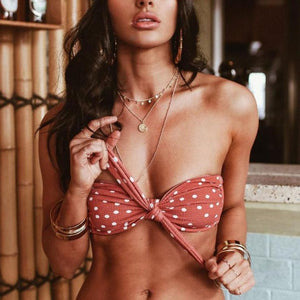 Women's Dot Printed Bikini Set Push-Up