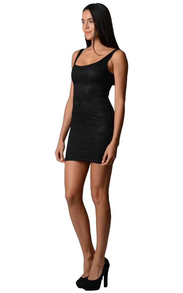 Women's Lace Bodycon Dress with Elastic Back