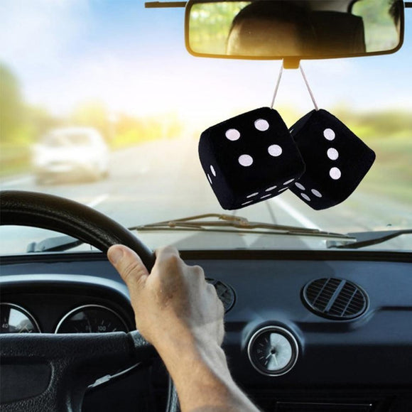 White Dots Rear View Mirror Hangers