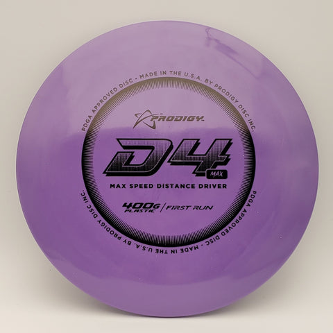 Prodigy Disc First Run 400g D4 Max