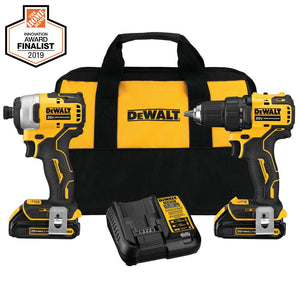 Dewalt Cordless Drill/Impact Combo (Charger Included and 2-Batteries Included)