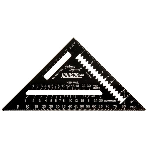 Johnson Johnny Square Easy-Read Aluminum Rafter Square