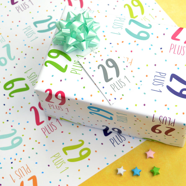 30th birthday wrapping paper