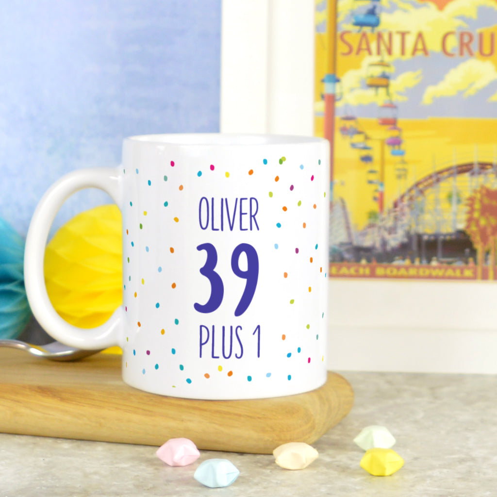 Personalised 40th birthday mug