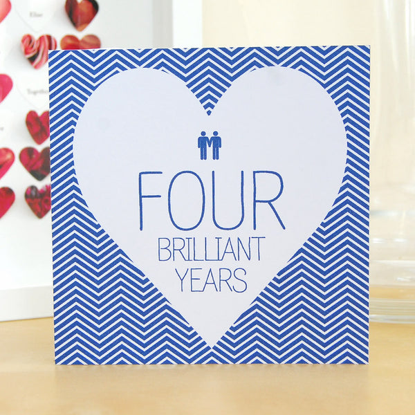 Personalised anniversary card for same-sex gay couple