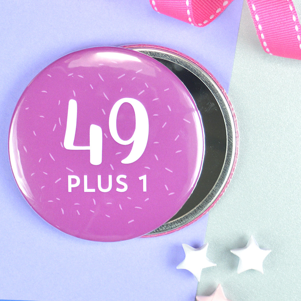 Pretty 50th birthday pocket mirror