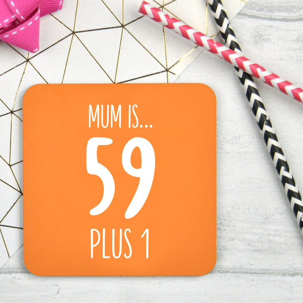 Personalised 60th Birthday Coaster