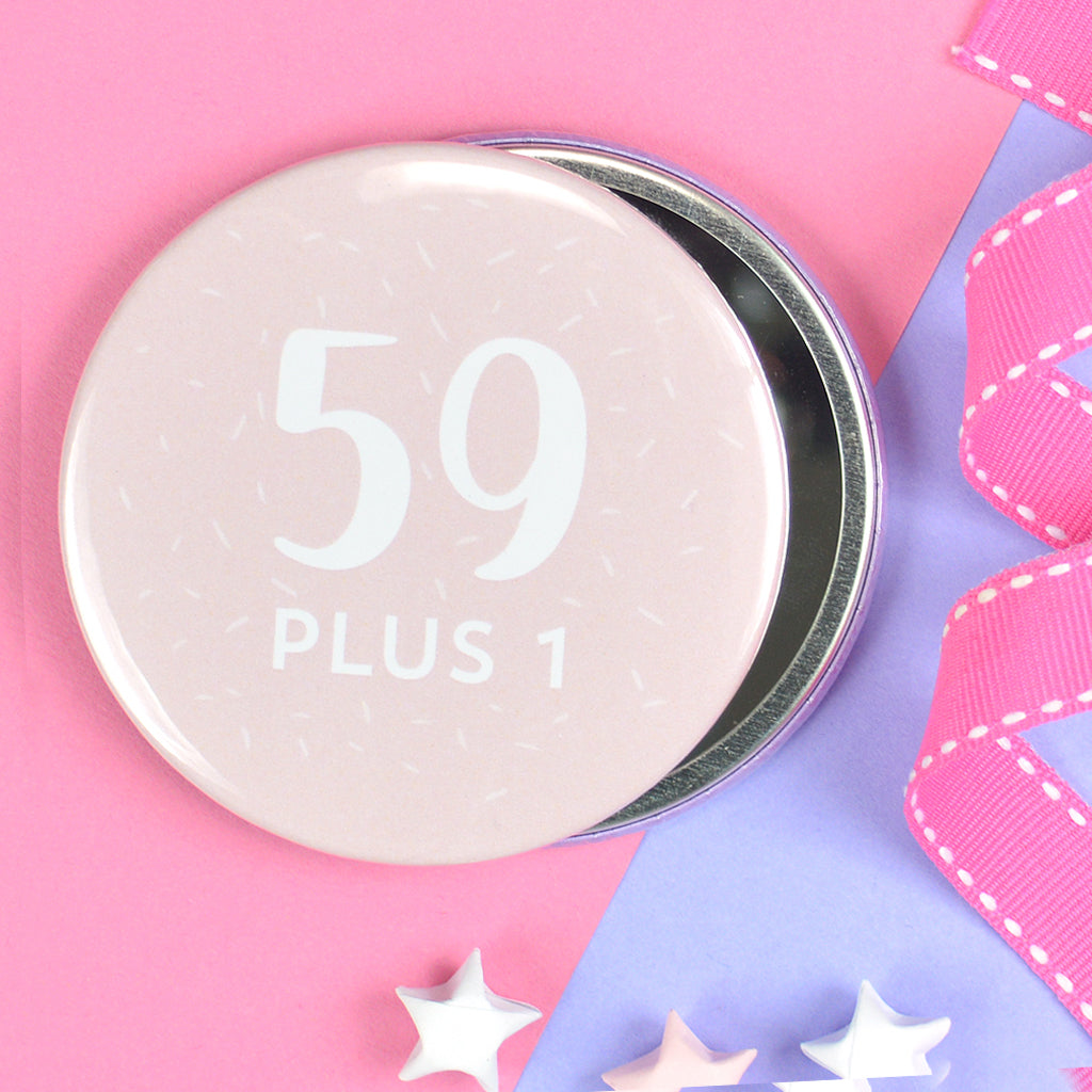 Pretty 60th birthday pocket mirror