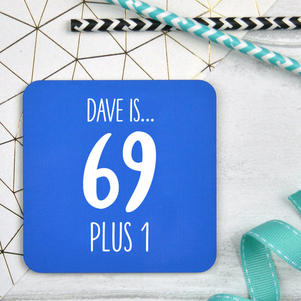 Personalised 70th Birthday Coaster
