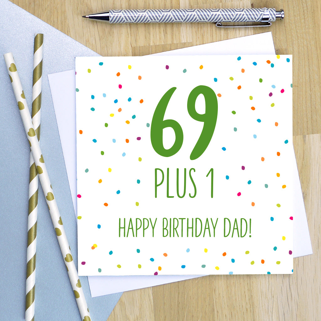 Personalised 70th Birthday Card Pink Turquoise