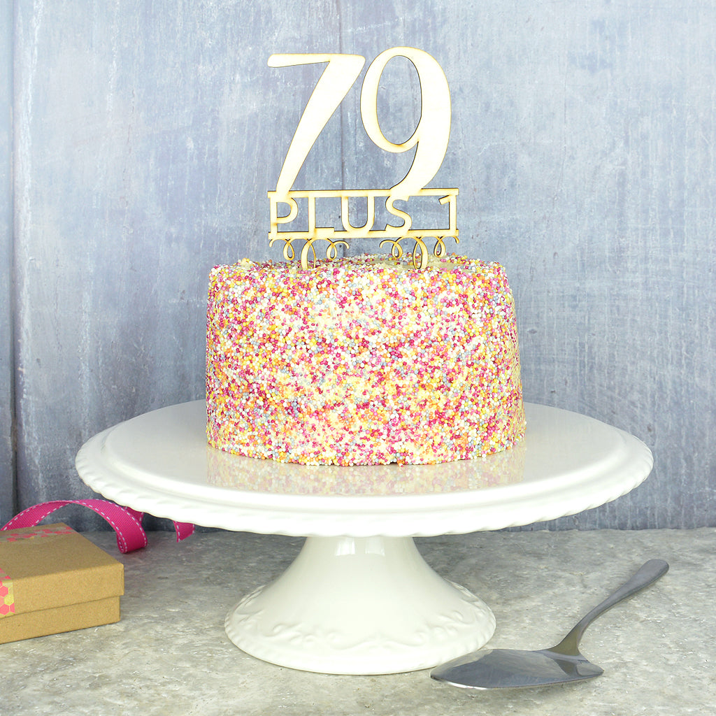 80th Birthday Cake Topper Pink Turquoise